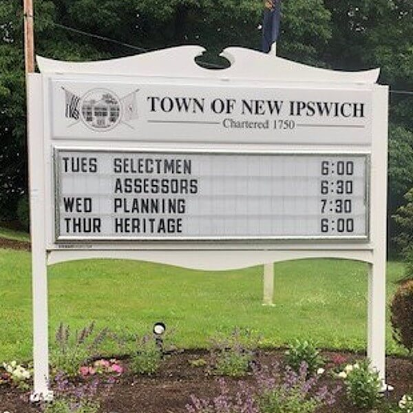 Municipal Sign for Town Of New Ipswich