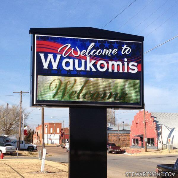 Municipal Sign for Town Of Waukomis