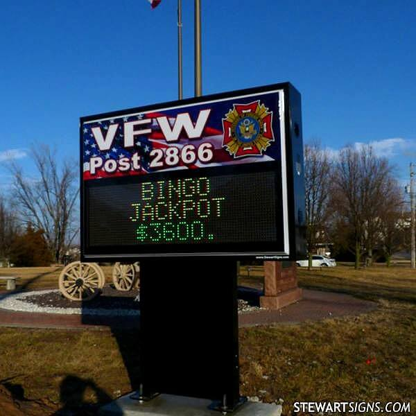 Civic Sign for VFW Post 2866