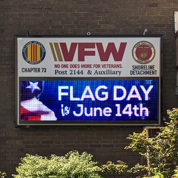 Civic Sign for VFW Post 2144