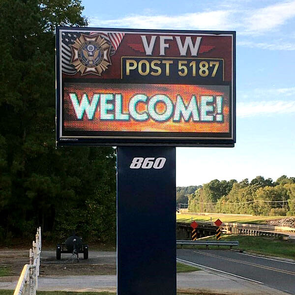 Civic Sign for VFW Post 5187