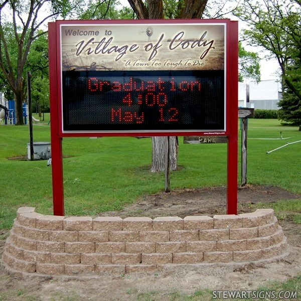 Municipal Sign for Village Of Cody