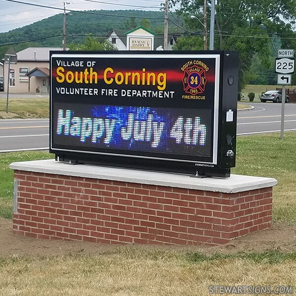 Municipal Sign for Village Of South Corning Fire Department