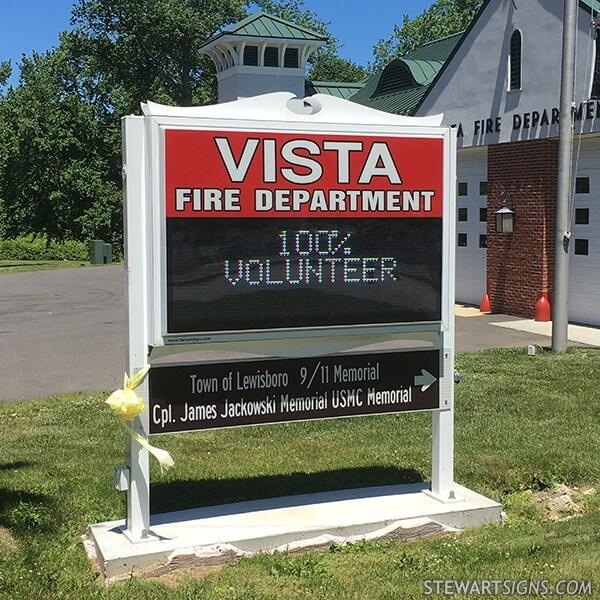 Municipal Sign for Vista Fire Department