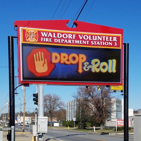 Municipal Sign for Waldorf Volunteer Fire Department Auxiliary