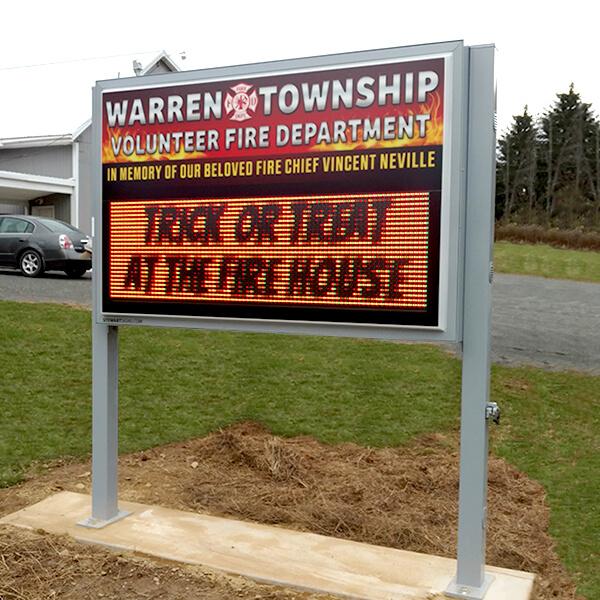 Municipal Sign for Warren Township Volunteer Fire Department