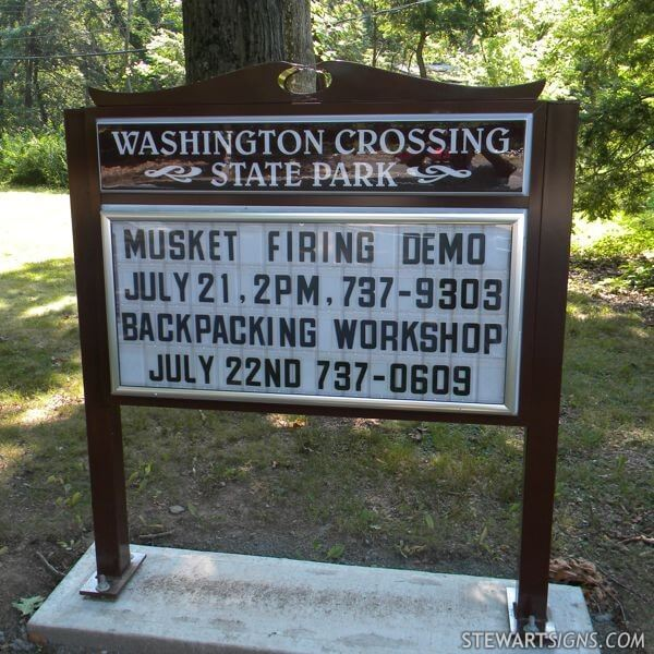 Municipal Sign for Washington Crossing State Park