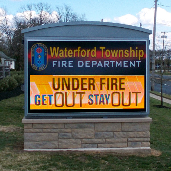 Municipal Sign for Waterford Township Fire Department