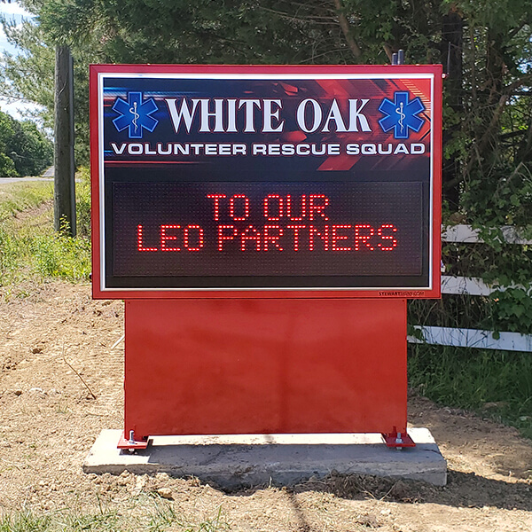 Municipal Sign for White Oak Volunteer Rescue Squad