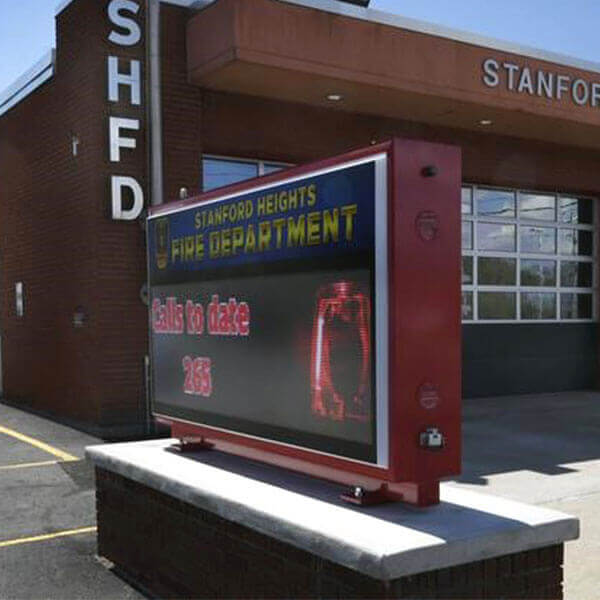 Municipal Sign for Stanford Heights Fire Department