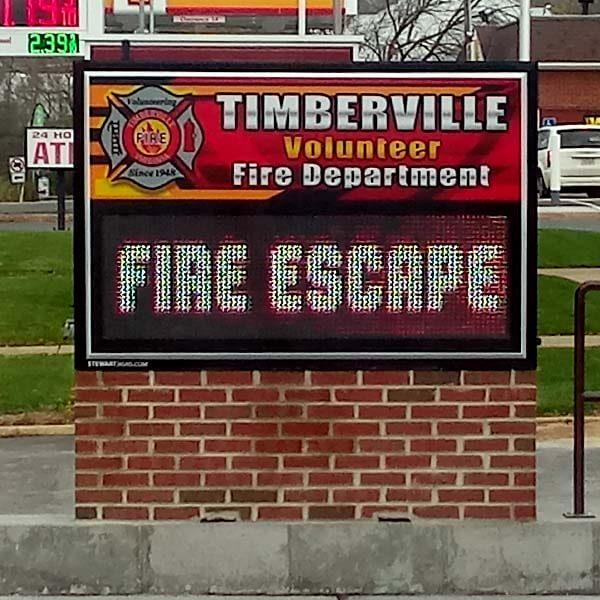 Municipal Sign for Timberville Volunteer Fire Dept