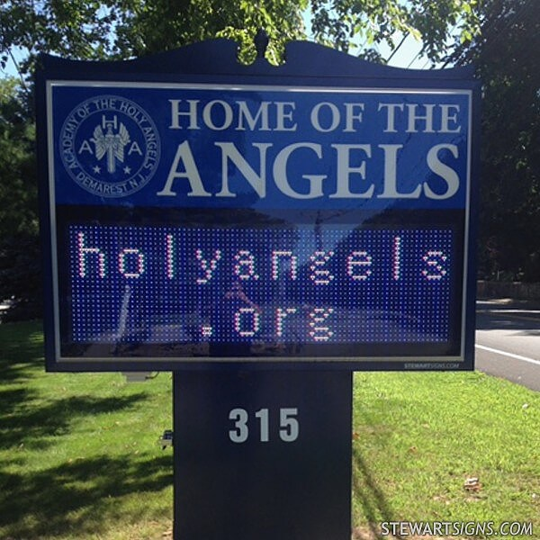 School Sign for Academy Of The Holy Angels