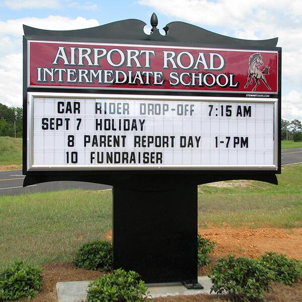 School Sign for Airport Road Intermediate School
