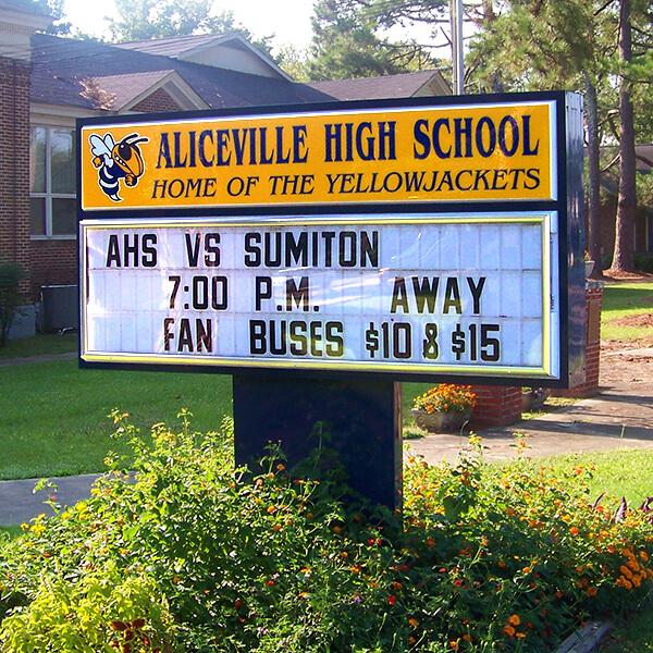 School Sign for Aliceville High School