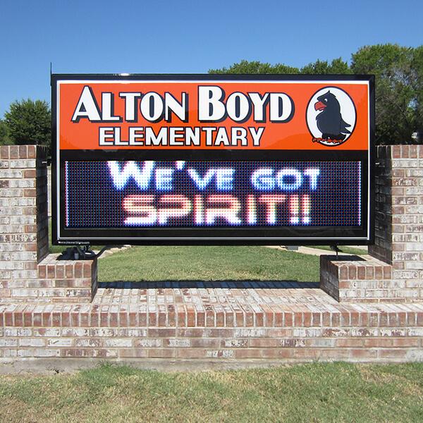 School Sign for Alton Boyd Elementary School