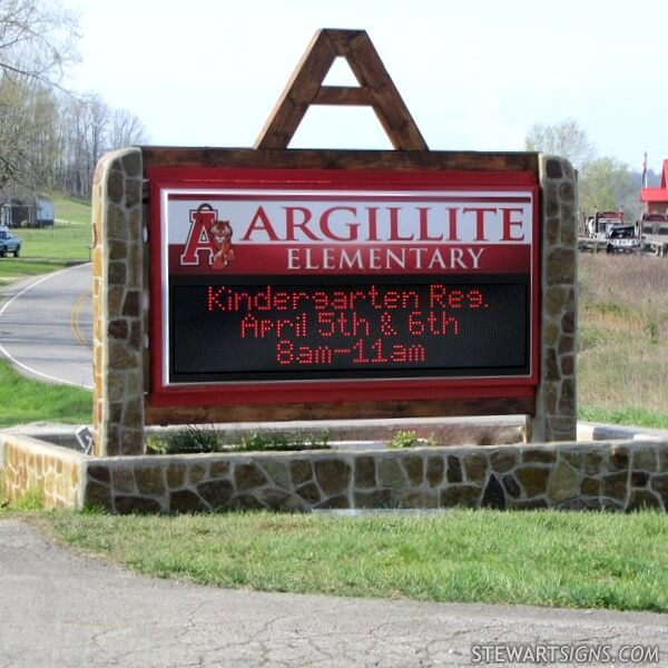 School Sign for Argillite Elementary