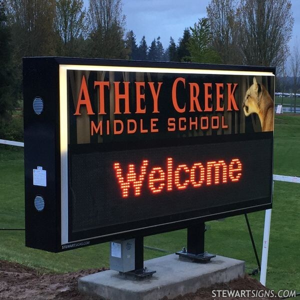 School Sign for Athey Creek Middle School