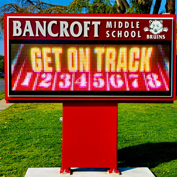 School Sign for Bancroft Middle School