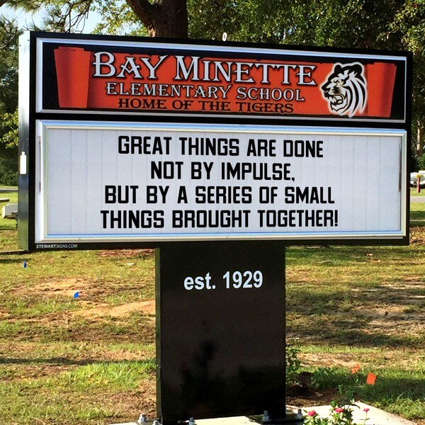 School Sign for Bay Minette Elementary School