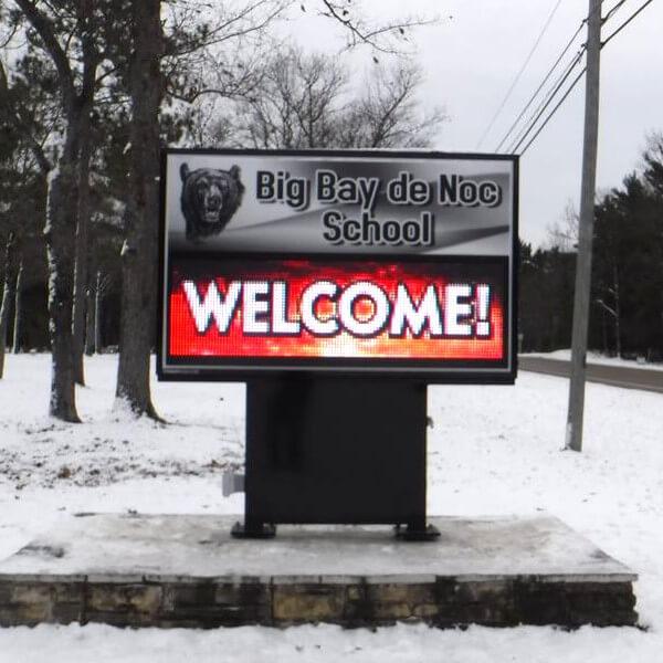 School Sign for Big Bay De Noc School