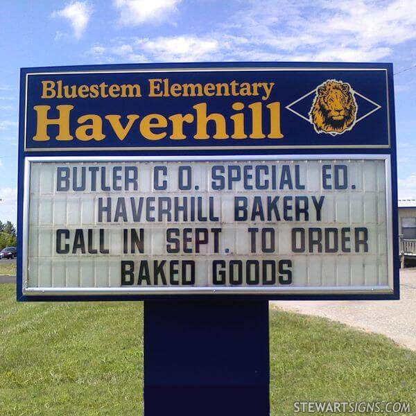 School Sign for Haverhill Elementary School
