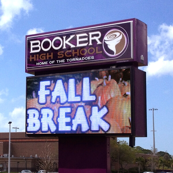 School Sign for Booker High School