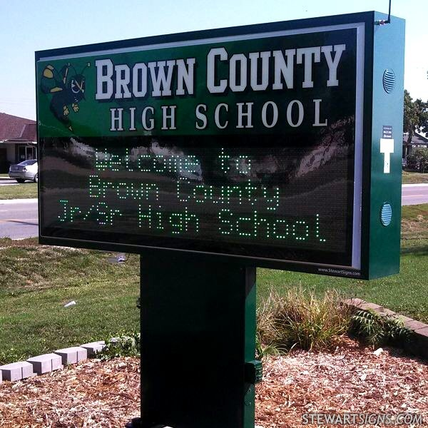 School Sign for Brown County High School