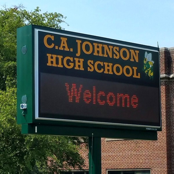 School Sign for C A Johnson Prep Academy
