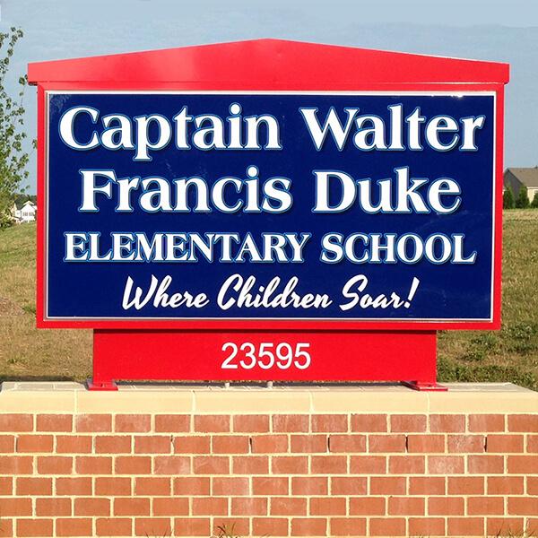 School Sign for Captain Walter Francis Duke Elementary School