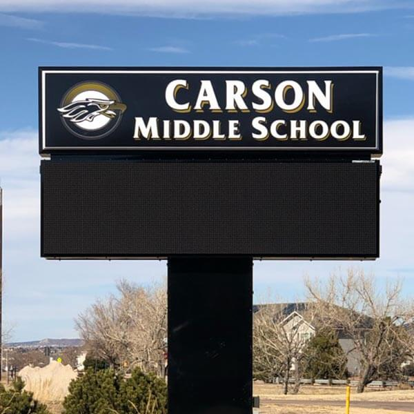 School Sign for Carson Middle School