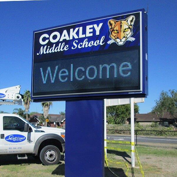 School Sign for Coakley Middle School