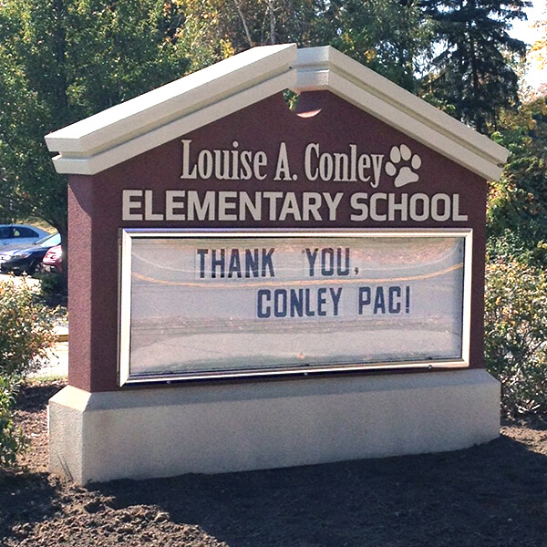 School Sign for Louise Conley Elementary School