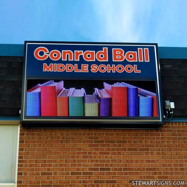 School Sign for Conrad Ball Middle School