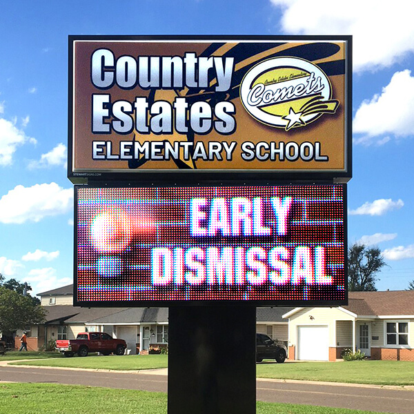 School Sign for Country Estates Elementary School