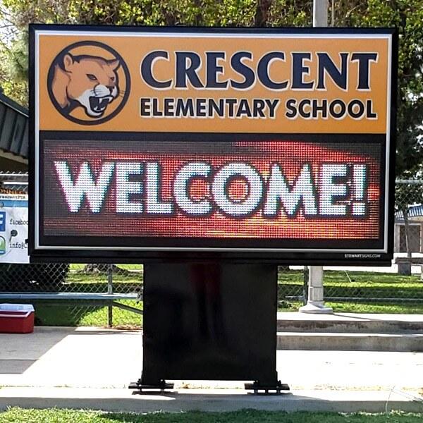 School Sign for Crescent Elementary School