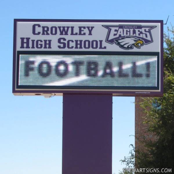 School Sign for Crowley High School