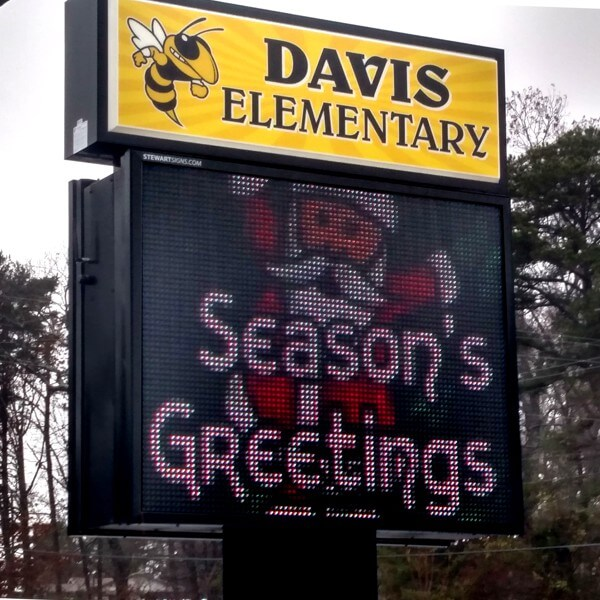School Sign for Davis Elementary School