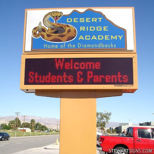 School Sign for Desert Ridge Academy