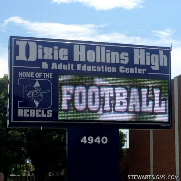 School Sign for Dixie Hollins High School