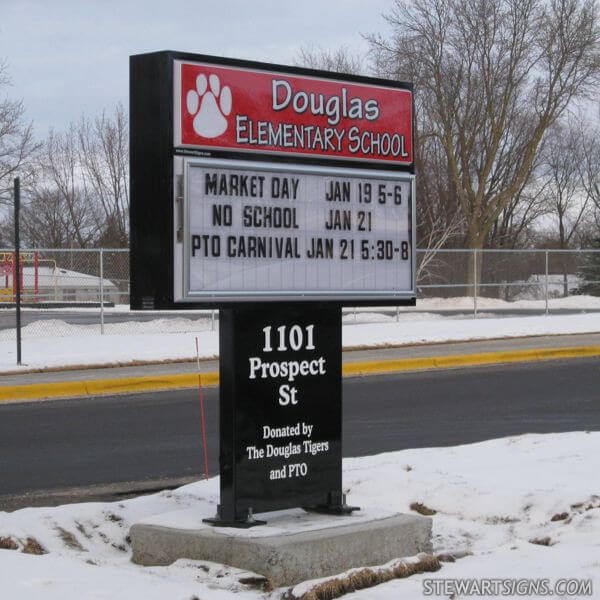 School Sign for Douglas Elementary School