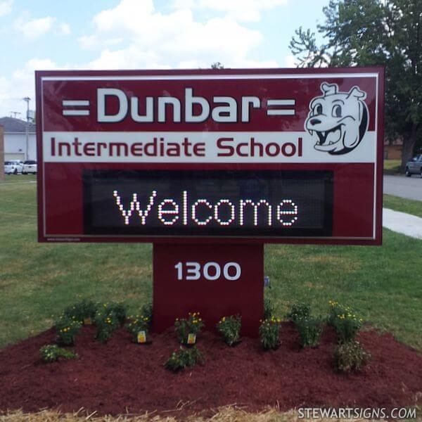 School Sign for Dunbar Intermediate School