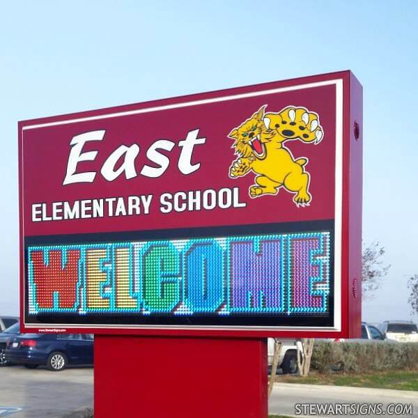 School Sign for East Elementary School