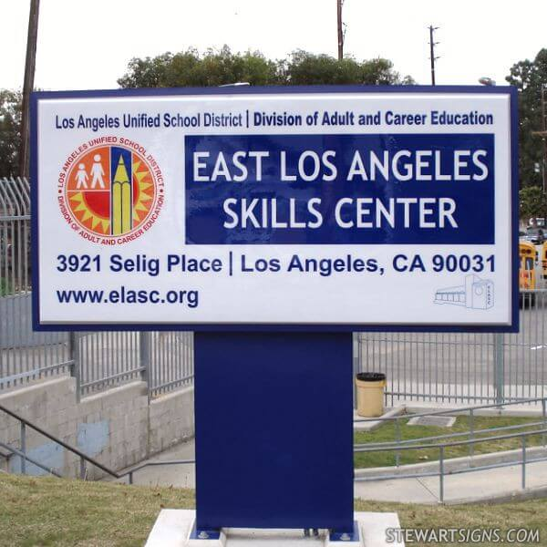 School Sign for East Los Angeles Skills Center
