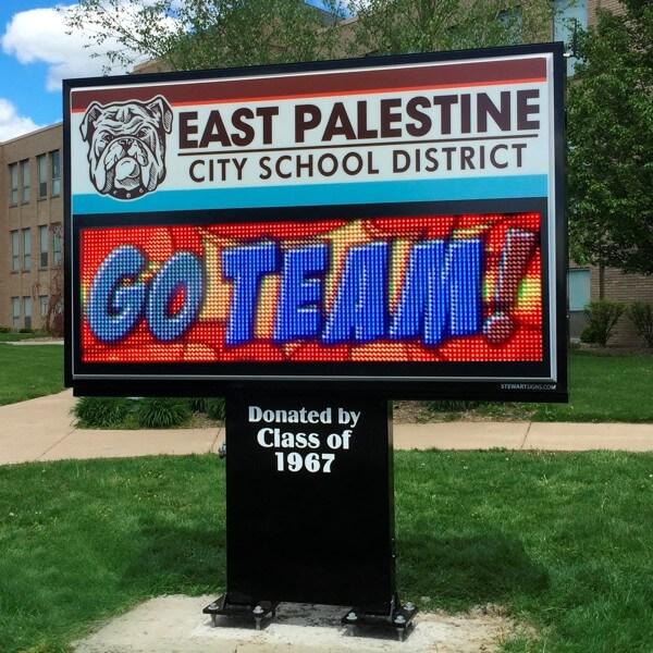 School Sign for East Palestine High School