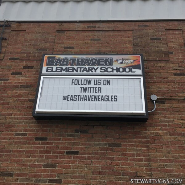 School Sign for Easthaven Elementary School