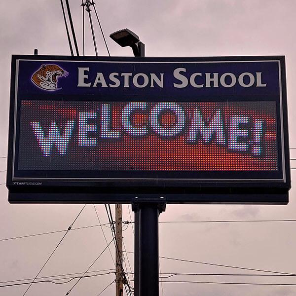 School Sign for Easton School District 28