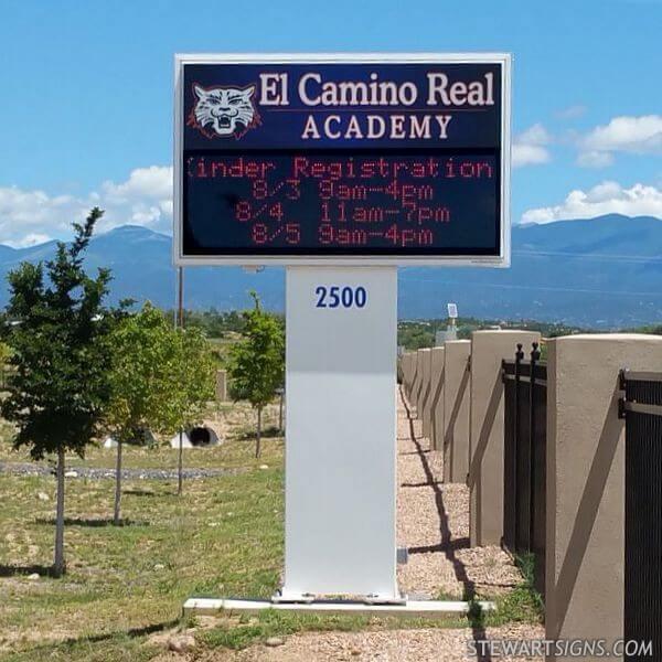School Sign for El Camino Real Academy