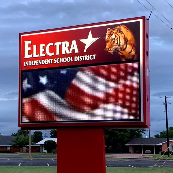 School Sign for Electra Independent School District