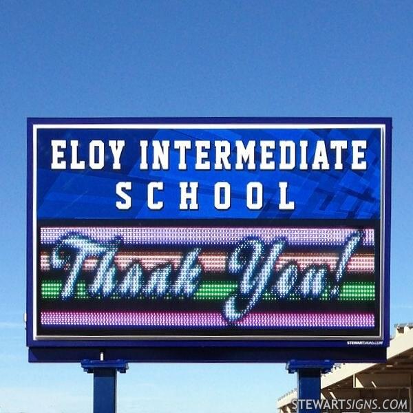 School Sign for Eloy Intermediate School