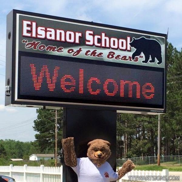 School Sign for Elsanor  School